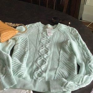LOFT Mint Sweater NWT